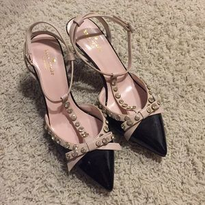 Kate Spade Size 9 point toe ankle strap mid heels